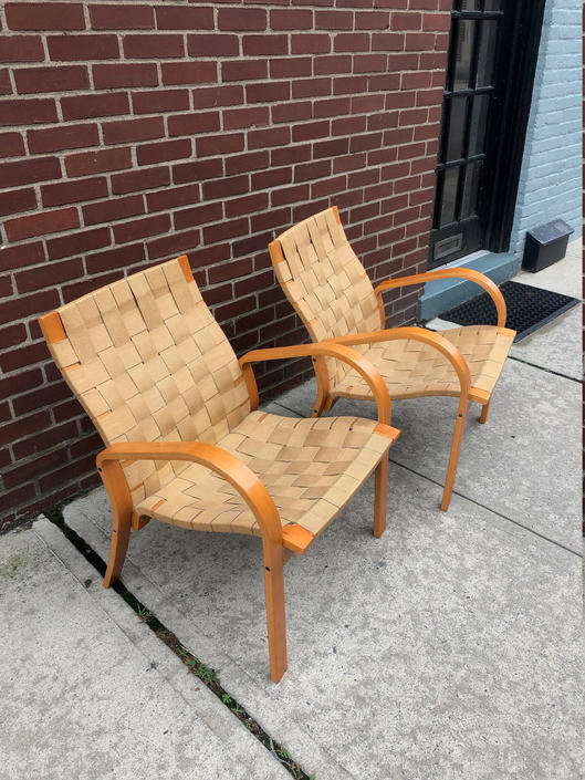 Set of 2 Mid Century Chairs in the Style of Bruno Mathsson by bcdrygoods
