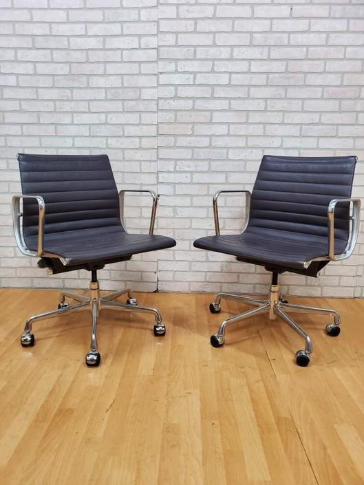 Mid Century Eames Aluminum Group Management Chair for Herman Miller - Pair