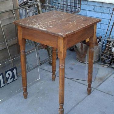 Wood side table. Bentley's Vintage