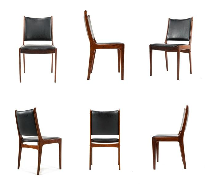 6 Rosewood Johannes Andersen Dining Chairs