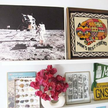 Vintage 1969 Apollo Moon Landing Lithograph Poster Print 20x15.5 - NASA US Space Astronaut Poster Man On Moon - 60s Poster by MILKTEETHS