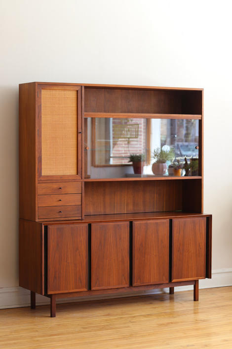 Mid Century Modern Walnut Dillingham Dining Cabinet by SharkGravy