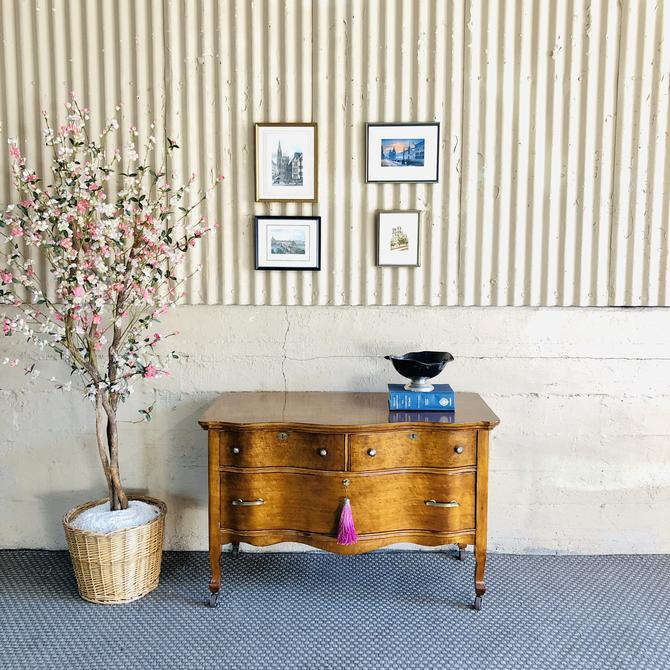 Antique SOLID Wood & Birdseye Maple Petite Dresser