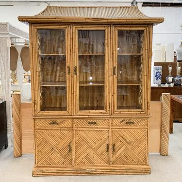 Island Chic Bamboo Pagoda Cabinet