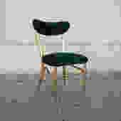 Emerald Green Crushed Velvet Dining Chair