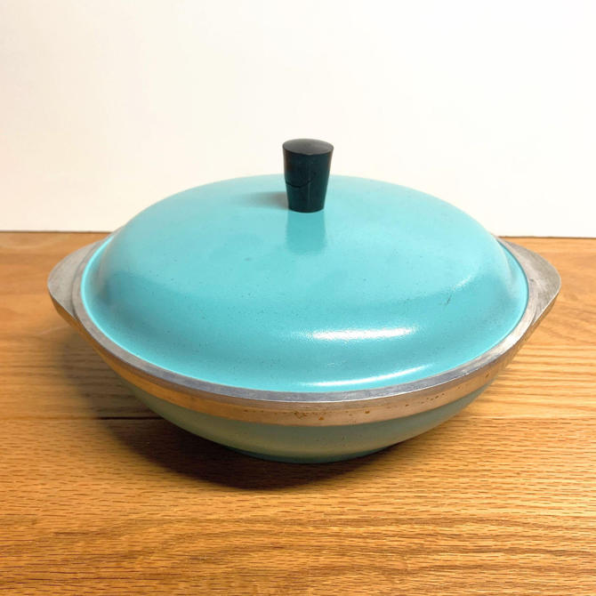 Vintage Turquoise Club Aluminum Cookware 1.5 QT Dutch Oven Casserole Mid Century Modern by OverTheYearsFinds