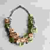 Marni Floral Embellished Statement Necklace