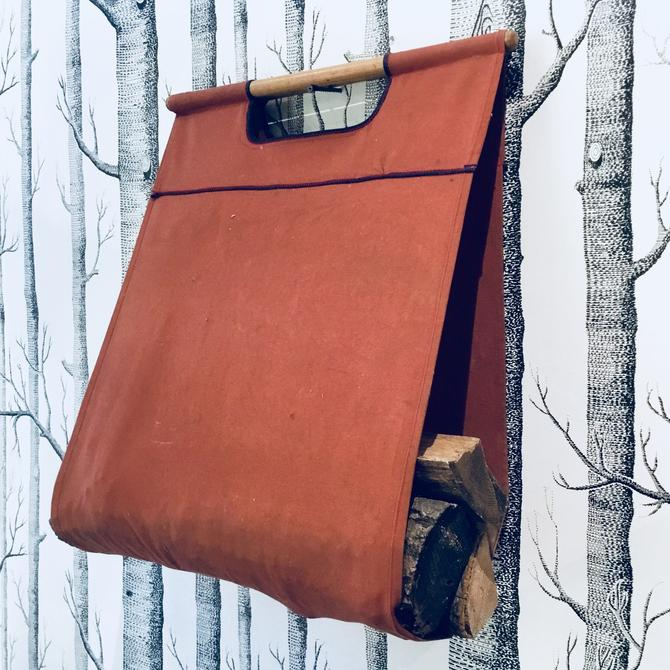 Firewood Carrier | Log Bag | Fireplace Tools | Wood Sling | Canvas Firewood Holder | Wood Tote | Gifts for Him by PiccadillyPrairie