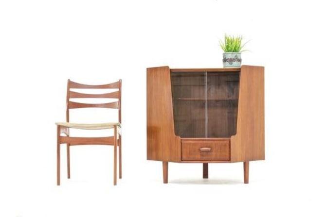 Mid Century Corner Unit By Wrighton Furniture by SputnikFurnitureLLC