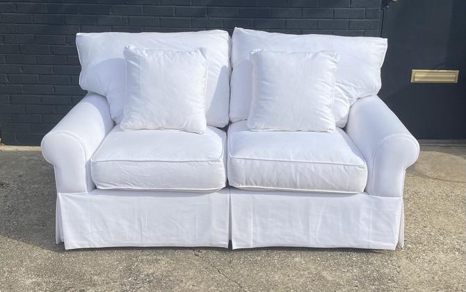 Modern Canvas Upholstered Loveseat