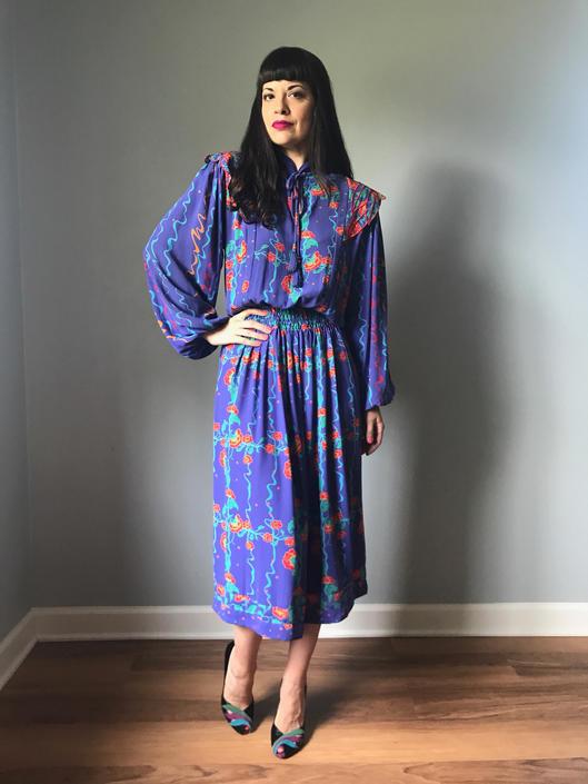vintage 70s Diane Freis dress | floral boho dress by LosGitanosVintage