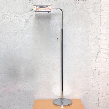 Polished Chrome Vintage Pharmacy Floor Lamp , Midcentury Modern by ilikemikes