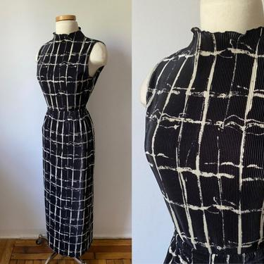 Plisse Grid Skirt Set by DiscoLaundryVintage