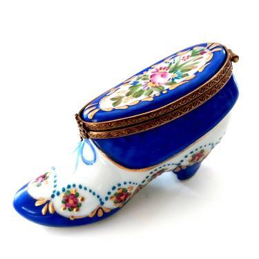 Limoges Porcelain Shoe Trinket Box by ModernPicks