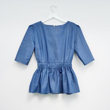Denim blouse by shopjoolee