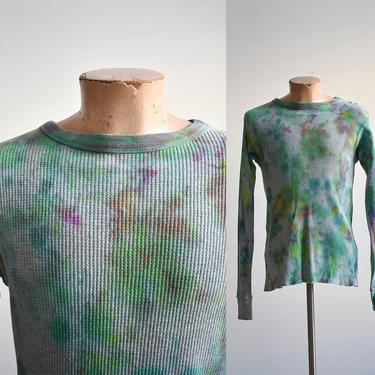 Tie Dye Thermal Longsleeve Shirt by milkandice