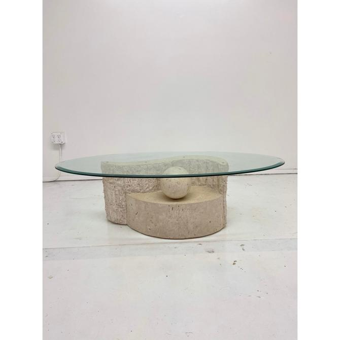 1980 39 S Vintage Mactan Stone Glass Coffee Table By Vintageonpoint From Vintage On Point Of Los Angeles Ca Attic