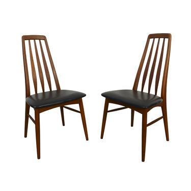 Eva Teak Dining Chairs by Niels Koefoed for Koefoed Hornslet Danish Modern by HearthsideHome