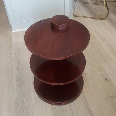 Vintage Ralph Lauren Henredon American Modern Three Tiered End Table by LynxHollowAntiques