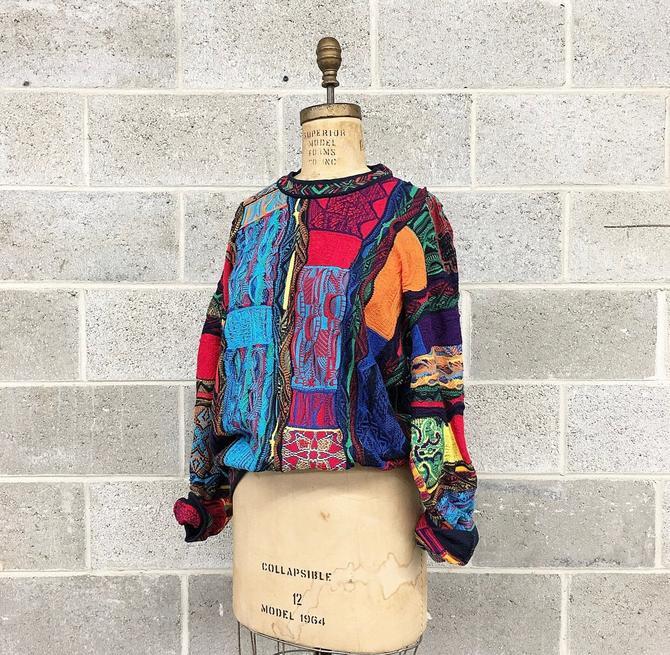 Vintage Coogi Sweater Retro 1980s Unisex Size M + Multi Color + Knit + Long Sleeve + Crew Neck Pullover + Australia + Fall Winter Fashion by RetrospectVintage215