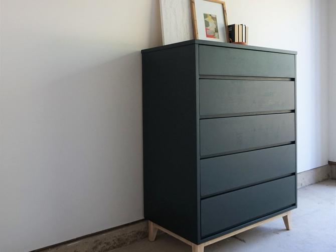 Hunter Green 5 Drawer Tallboy