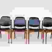 Rare Set of Six Teak Arne Vodder Dining Chairs