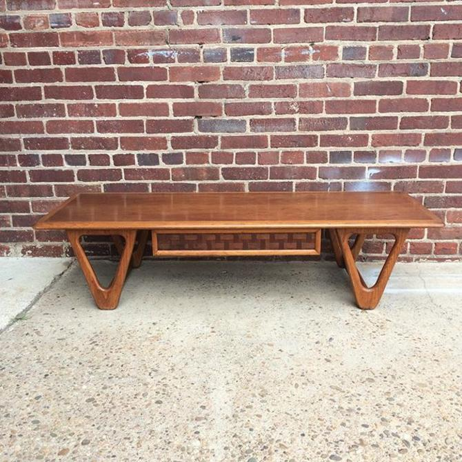 Lane Coffee Table With Drawers: Midcentury Modern Lane Coffee Table With Basket Weave