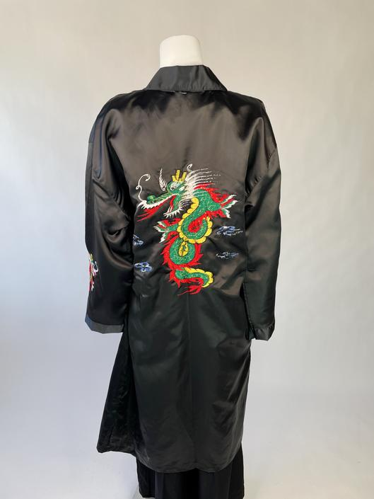 Black Robe w/ Rad Embroidered Dragon