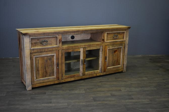 """Rustic Solid Wood 2-Drawer 4-Door 80"""" Media Console / TV Stand by RusticShop1"""