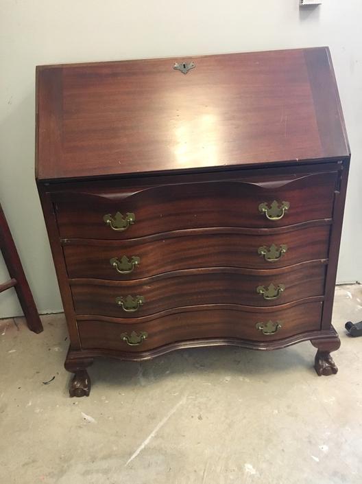 Ann- Mahogany  Secretary Desk by StylishPatina