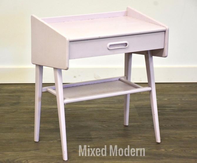 Danish Modern Style Mauve Nightstand by mixedmodern1