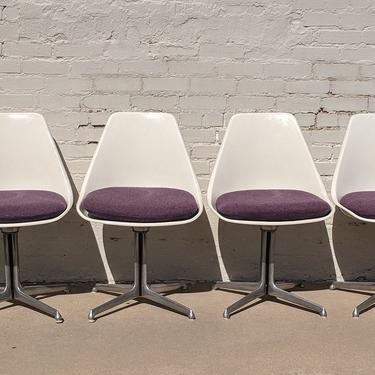 Mid Century Modern Burke Tulip Chair Set of Four by VintageVaultTulsa