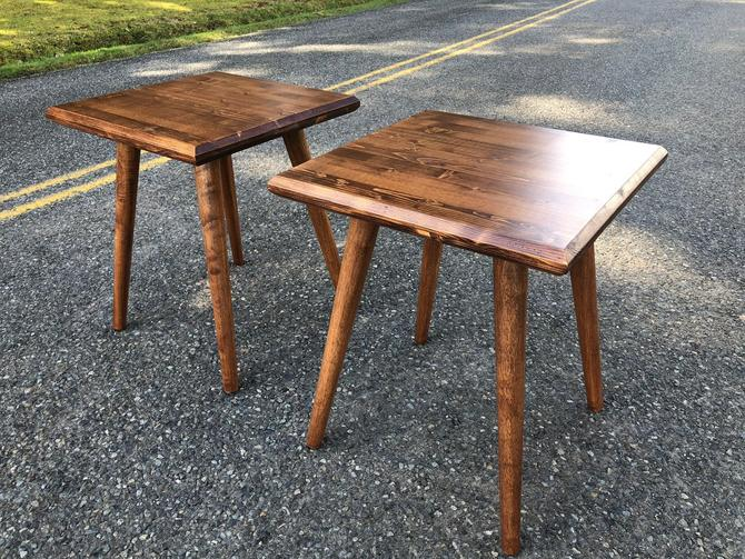Mid Century Modern End Table  IN STOCK by OrWaDesigns