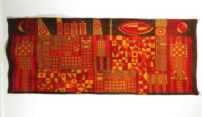 1950s Eastern European ABSTRACT MODERNIST ART TAPESTRY Rug MID CENTURY Space Age