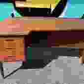 Danish Teak Desk By Arne Vodder