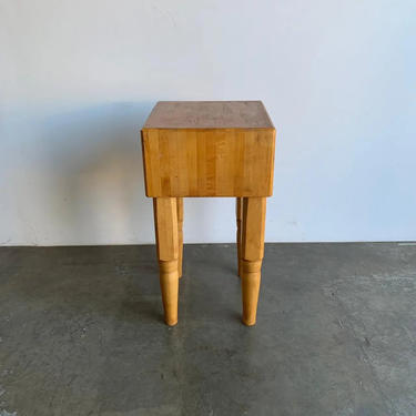 Butcher Maple Block With Sculptured Legs by VintageOnPoint