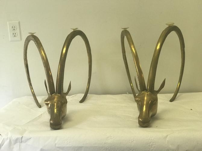 Pair of Vintage Brass table bases