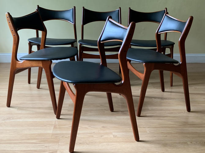 Set of six Danish Teak dining chairs MODEL 310 B by Erik Buch (Erik Buck) by ASISisNOTgoodENOUGH