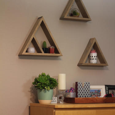 Triangle Shelves by EvansWoodshopDesign