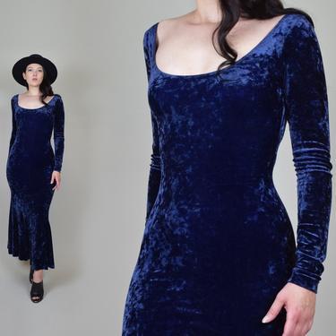 Vintage Betsey Johnson Velvet Dress   90's Velvet Betsey Johnson Dress by WisdomVintage