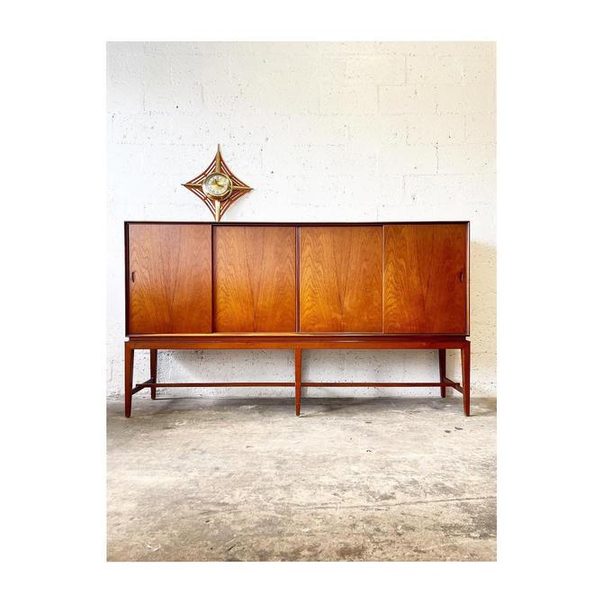 Danish Modern Tall Sideboard by Severin Hansen for Haslev by FlipAtik