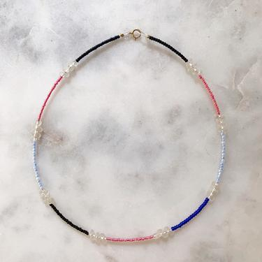 Block Party Collection No. 5 // handmade beaded choker // color block necklace by mammothandminnow