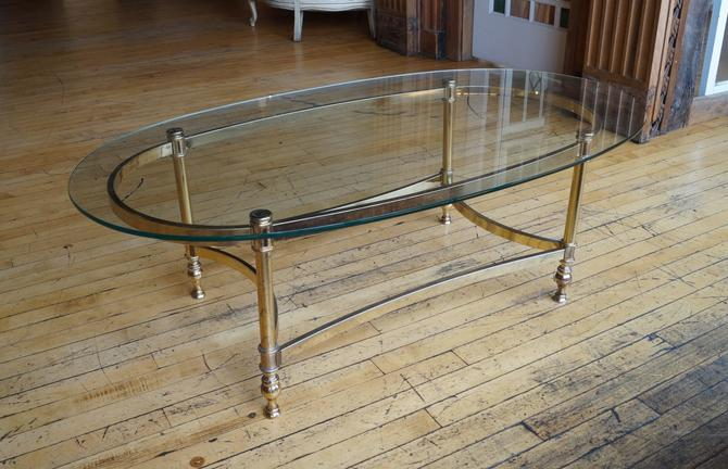Small Oval Glass Regency Coffee Table