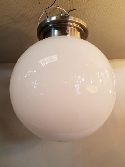 12in Globe Semi Flush Light