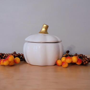 Double Wicked Ceramic Pumpkin Candle