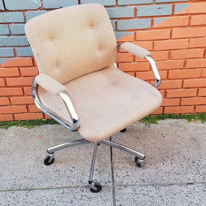 SOLD.                    Chrome Desk Chair, $69.