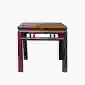 Chinese Handmade Vintage Finish Square Wood Stool Table ws615S