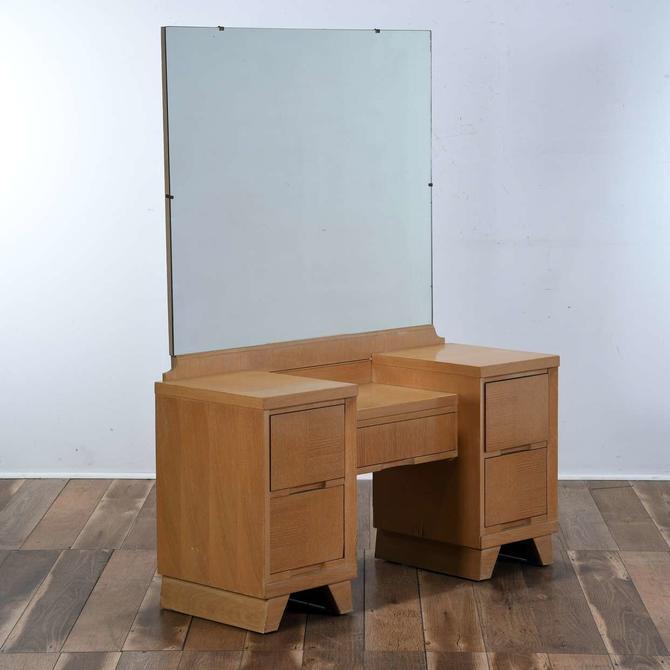 Late Art Deco Style Vanity W Mirror