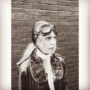Betsy as #AmeliaEarhart  #aviation #halloween #costumeidea #dc #dmv #meepsdc