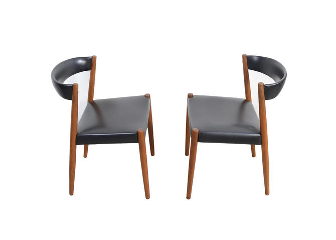 Teak Dining Chairs Danish Modern Kai Kristiansen by HearthsideHome